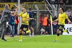 13.09.2011, Signal Iduna Park, Dortmund, GER, UEFA CL, Gruppe F, Borussia Dortmund (GER) vs Arsenal London (ENG), im Bild.Torjubel / Jubel  nach dem 1:1 durch Ivan Perisic (Dortmund #14) (R) ..// during the UEFA CL, group F, Borussia Dortmund (GER) vs Arsenal London on 2011/09/13, at Signal Iduna Park, Dortmund, Germany. EXPA Pictures © 2011, PhotoCredit: EXPA/ nph/  Mueller       ****** out of GER / CRO  / BEL ******