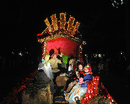 The Regents School float at the Christmas parade in Oxford, Miss. on Monday, December 6, 2010.