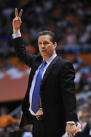 Jan 14, 2012; Knoxville, TN, USA; Kentucky Wildcats head coach John Calipari during the game against the Tennessee Volunteers at Thompson Boling Arena. Kentucky won 65-62. Mandatory Credit: Randy Sartin-US PRESSWIRE