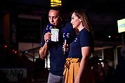 Hugo Sconocchini, Giulia Cicchinè<br /> Umana Reyer Venezia - Banco di Sardegna Dinamo Sassari<br /> Legabasket LBA Serie A Postemobile 2018-2019 Finale Playoff Gara 2<br /> Mestre, 12/06/2019<br /> Foto L.Canu - Ciamillo-Castoria