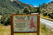 Start the Rees-Dart Track at Muddy Creek, on Rees Valley Station, Otago region, South Island of New Zealand. In 5 days, we tramped the strenuous Rees-Dart Track for 39 miles plus 12.5 miles side trip to spectacular Cascade Saddle, in Mount Aspiring National Park, Otago region, South Island of New Zealand.