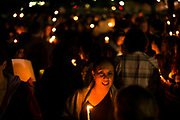 STARKVILLE, MS – FEBRUARY 1, 2017: Rosa vozzo (center), 60, attends a vigil honoring international students at Mississippi State University. <br /> CREDIT: Bob Miller for The New York Times