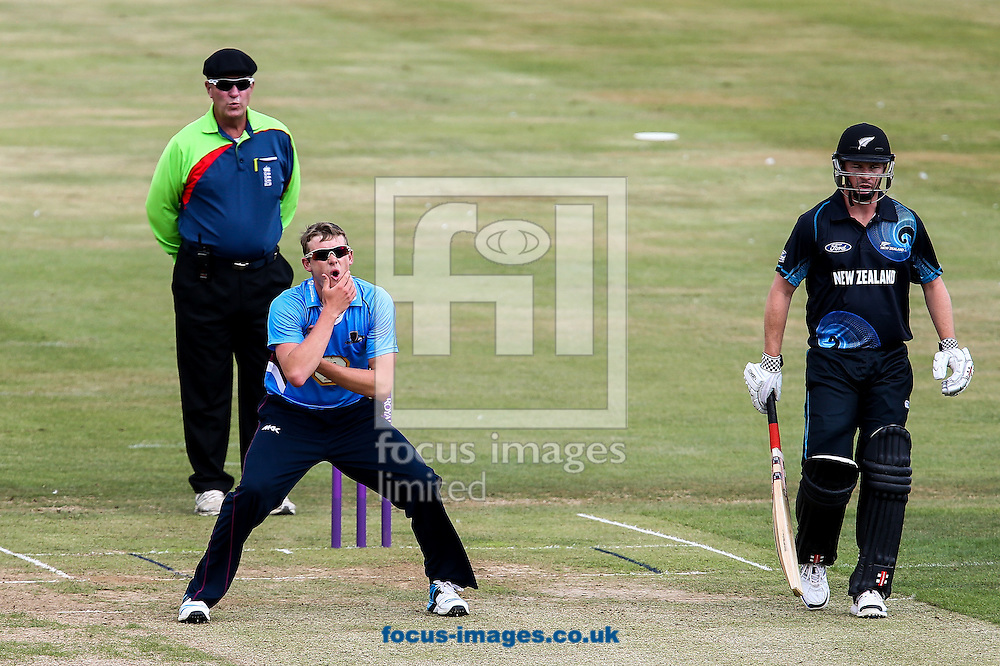 Michael Leask of Northants Steelbacks (centre) rues a near miss during the Tour Match match at the County Ground, Northampton, Northampton<br /> Picture by Andy Kearns/Focus Images Ltd 0781 864 4264<br /> 31/07/2014