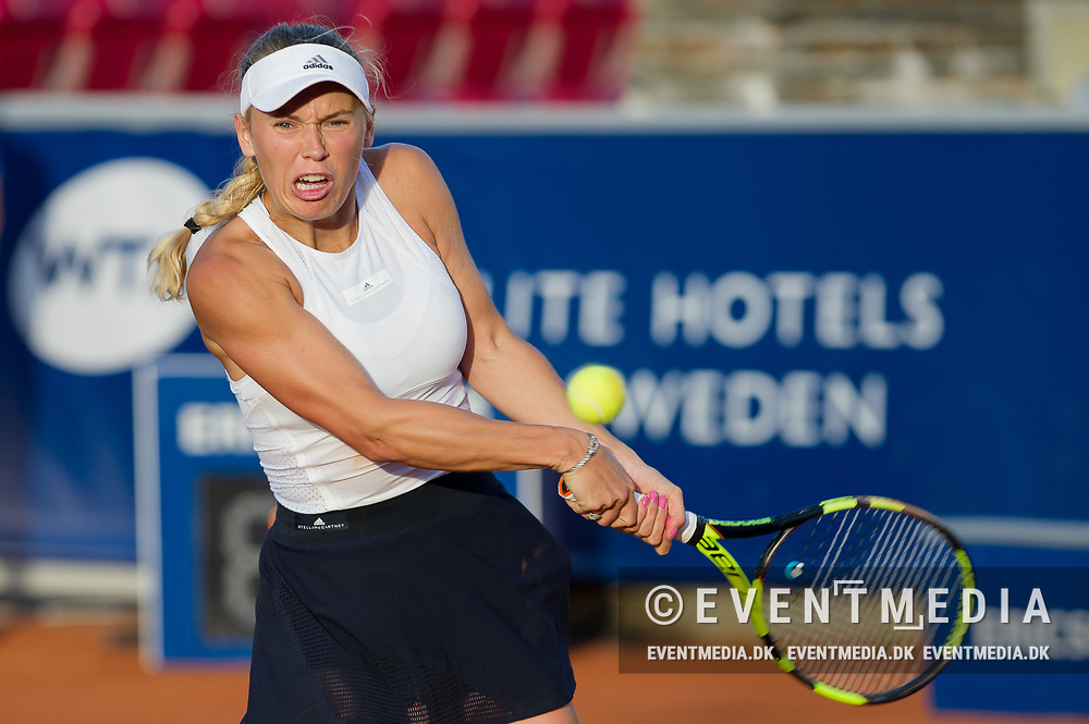 Caroline Wozniacki (Denmark)  at the 2017 WTA Ericsson Open in Båstad, Sweden, July 29, 2017. Photo Credit: Katja Boll/EVENTMEDIA.