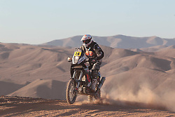 Slovenian Enduro Biker Miran Stanovnik competes during 34th rally Dakar - 2012 edition from Mar del Plata across Argentina, Chile and Peru towards Lima, on January 10, 2012. (Photo by MaindruPhoto)