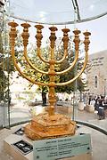 Israel, Jerusalem, Old City, Replica of the Temple Menorah