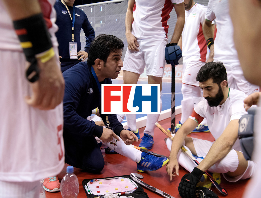 BERLIN - Indoor Hockey World Cup<br /> Men: Iran - Austria<br /> foto: Iran's assistent coach.<br /> WORLDSPORTPICS COPYRIGHT FRANK UIJLENBROEK