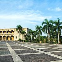 El Alcázar de Colón o Palacio Virreinal de Don Diego Colón es un palacio situado en la Ciudad Colonial de Santo Domingo, República Dominicana, que fue construido sobre un solar cercano a los farallones que miran hacia el río Ozama, concedido a Diego Colón, hijo primogénito del descubridor de América, Cristóbal Colón, por el rey Fernando el Católico, para que edificara una morada para él y sus descendientes en la isla La Española, a la cual llegó en 1509 en calidad de gobernador y en donde actualmente funciona el Museo Alcázar de Colón. The Alcázar de Colón, or Columbus Alcazar, located in Santo Domingo's Ciudad Colonial, Dominican Republic, is the oldest Viceregal residence in America, and forms part of the Ciudad Colonial UNESCO's World Heritage Site. It was built on a plot close to the rock islet that look towards the Ozama river, granted to Diego Columbus, firstborn son of the discoverer of America, Christopher Columbus, by the king Ferdinand II of Aragon, to build a dwelling for him and his descendants on the island Hispaniola, to which he arrived in 1509 as governor.