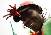 Photo: Steve Bond/Richard Lane Photography.<br />Ivory Coast v Mali. Africa Cup of Nations. 29/01/2008. Mali Eagles fan with 'appropriate' headgear
