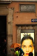 Ad nearby Rome's Fontana de Trevi