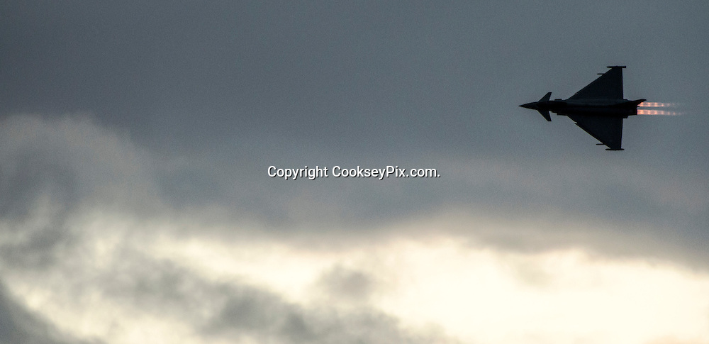 Picture by Christian Cooksey/CookseyPix.com on behalf of South Ayrshire Council.<br /> <br /> The Scottish Airshow, Low Green, Ayr, South Ayrshire.<br /> <br /> The RAF Typhoon Display Team<br /> <br /> <br /> All rights reserved. For full terms and conditions see www.cookseypix.com