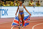 Dina Asher-Smith (Great Britain), Winner of the Women's 200 Metres during the 2019 IAAF World Athletics Championships at Khalifa International Stadium, Doha, Qatar on 2 October 2019.