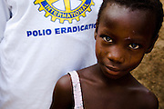 Girl in the village of Gidan-Turu, northern Ghana on Thursday March 26, 2009..
