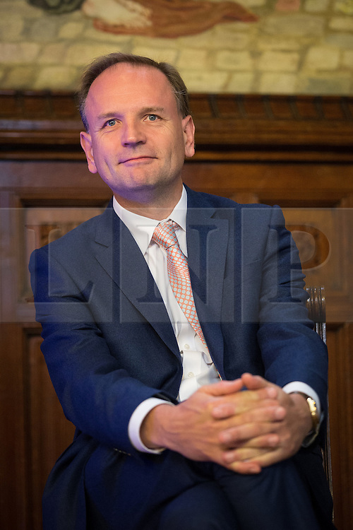 © Licensed to London News Pictures .02/09/2015 . Manchester , UK . NHS England's SIMON STEVENS . Event and signing of a memorandum of understanding to mark partnerships between industry and the NHS , at the Great Hall at Manchester Town Hall . Service providers aim to improve access to cutting edge treatments within the NHS to patients in Greater Manchester , as part of the continuing devolution of the NHS in the region . Photo credit : Joel Goodman/LNP