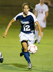 Georgetown Hoyas forward Camille Trujillo (12) in action against UVA.  The #6 Virginia Cavaliers played the Georgetown Hoyas to a 2-2 draw in a NCAA Women's Soccer pre-season exhibition game held at Klockner Stadium on the Grounds of the University of Virginia in Charlottesville, VA on August 18, 2008.