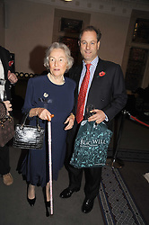 LADY RUPERT NEVILLE and VISCOUNT CHELSEA at a party to celebrate the publication of 'Past Imperfect' by Julian Fellowes held at Cadogan Hall, 5 Sloane Terrace, London SW1 on 4th November 2008.