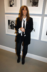 Rock star PATTI SMITH at an exhibition of photographs by the late Robert Mapplethorpe at the Alison Jacques Gallery, 4 Clifford Street, London W1 on 7th September 2006.<br /><br />NON EXCLUSIVE - WORLD RIGHTS