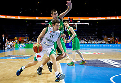 Goran Dragic of Slovenia during basketball game between National basketball teams of Slovenia and Lithuania at of FIBA Europe Eurobasket Lithuania 2011, on September 15, 2011, in Arena Zalgirio, Kaunas, Lithuania.  (Photo by Vid Ponikvar / Sportida)
