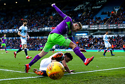 Andreas Weimann of Bristol City is tackled by Charlie Mulgrew of Blackburn Rovers - Mandatory by-line: Robbie Stephenson/JMP - 09/02/2019 - FOOTBALL - Ewood Park - Blackburn, England - Blackburn Rovers v Bristol City - Sky Bet Championship