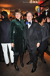 STEPHEN JONES and SELINA BLOW at the launch party of 'Songs For Sorrow' hosted by Alber Elbaz and Mika held at Lanvin, 32 Savile Row, London on 11th November 2009.