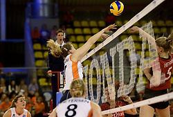 01-06-2014 NED:  Vriendschappelijk Nedeland - Belgie, Eindhoven<br /> Nederland wint met 3-2 van Belgie / Carlijn Jans Ghijssen