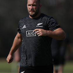 PRETORIA, SOUTH AFRICA - OCTOBER 05: Owen Franks of the New Zealand (All Blacks) during the Rugby Championship New Zealand All Blacks captain's run at St David's Marist Inanda 36 Rivonia Rd, Sandown, Sandton,on October 5, 2018 in Pretoria, South Africa. (Photo by Steve Haag/Getty Images)