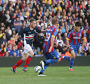Jim McAlister runs at Barry Bannan and Chung-yong Lee  - Crystal Palace v Dundee - Julian Speroni testimonial match at Selhurst Park<br /> <br />  - © David Young - www.davidyoungphoto.co.uk - email: davidyoungphoto@gmail.com