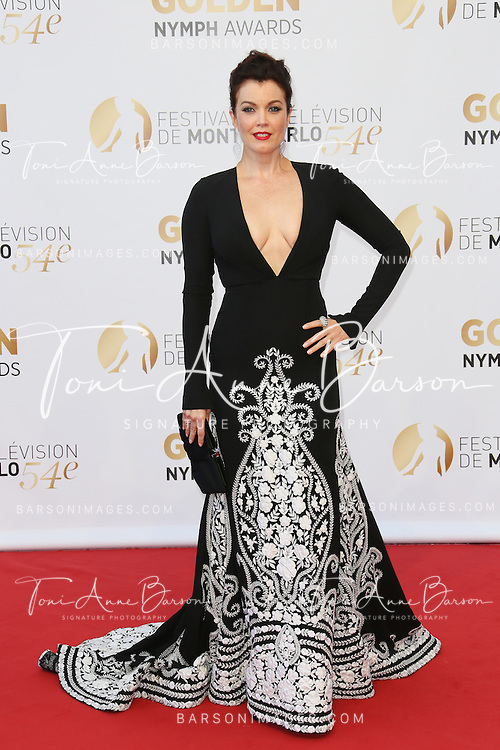 MONTE-CARLO, MONACO - JUNE 11:  Bellamy Young  attends the Closing Ceremony and Golden Nymph Awards of the 54th Monte Carlo TV Festival on June 11, 2014 in Monte-Carlo, Monaco.  (Photo by Tony Barson/FilmMagic)