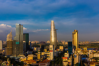 Bitexco Financial Tower, At 68 stories, it is the tallest building in HCMC and the third tallest in Vietnam). Central Financial District, Ho Chi Minh City, Vietnam.