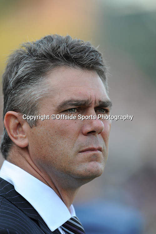12/10/2008. Rugby Union. Heineken Cup, Pool 3. Leicester Tigers v Ospreys. Leicester Tigers head coach, Heyneke Meyer. Leicester, UK. Photo: Offside/Steve Bardens.