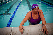 Liz Fenimore swims at the Natomas Racquet Club in Sacramento, Calif. January 17, 2011.