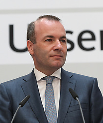 26.05.2019, Konrad Adenauer Haus, Berlin, GER, Europawahl 2019, Wahlabend der CDU, im Bild Manfred Weber // during the Election evening of the CDU on the 2019 European elections at the Konrad Adenauer Haus in Berlin, Germany on 2019/05/26. EXPA Pictures © 2019, PhotoCredit: EXPA/ SM<br /> <br /> *****ATTENTION - OUT of GER*****