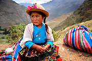 A little girl sells blankets on the streets of Peru. (U.S. Air Force photo by Staff Sgt. Shawn Weismiller)