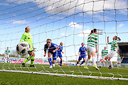 Forfar Farmington captain Nicola Irenside scores an equaliser just before hafl time - Celtic v Forfar Farmington in the SWPL Cup semi final at Falkirk, Falkirk Stadium,<br /> <br />  - &copy; David Young - www.davidyoungphoto.co.uk - email: davidyoungphoto@gmail.com