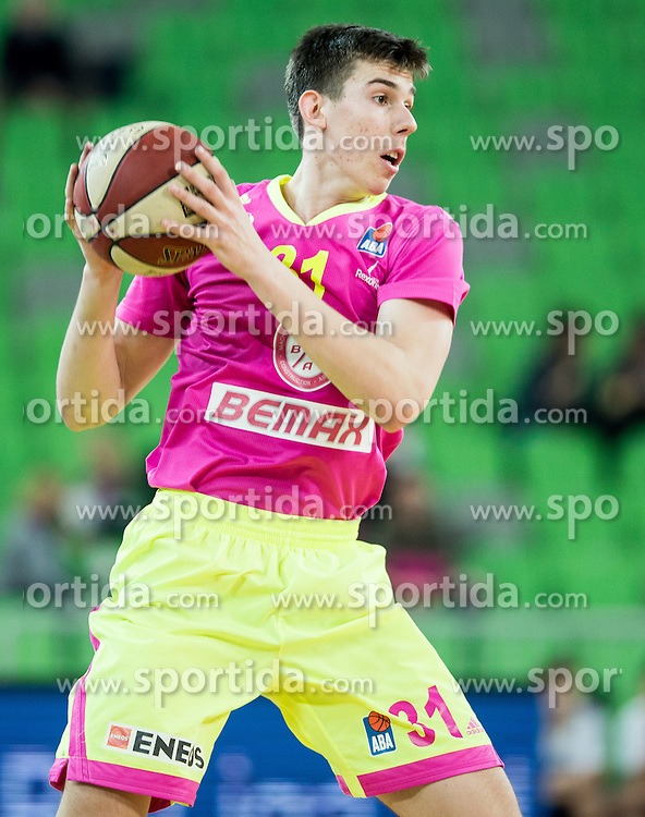 Vlatko Cancar of Mega Leks during basketball match between KK Union Olimpija Ljubljana and KK mega Leks in 14th Round of ABA League 2016/17, on December 18, 2016 in Arena Stozice, Ljubljana, Slovenia. Photo by Vid Ponikvar / Sportida