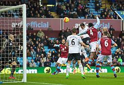 BIRMINGHAM, ENGLAND - Tuesday, March 1, 2016: Everton's Ramiro Funes Mori scores the first goal against Aston Villa during the Premier League match at Villa Park. (Pic by David Rawcliffe/Propaganda)