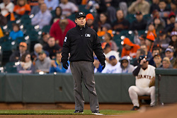 SAN FRANCISCO, CA - APRIL 21:  MLB umpire Clint Fagan #82 stands on the field during the first inning between the San Francisco Giants and the Los Angeles Dodgers at AT&T Park on April 21, 2015 in San Francisco, California.  The San Francisco Giants defeated the Los Angeles Dodgers 6-2. (Photo by Jason O. Watson/Getty Images) *** Local Caption *** Clint Fagan
