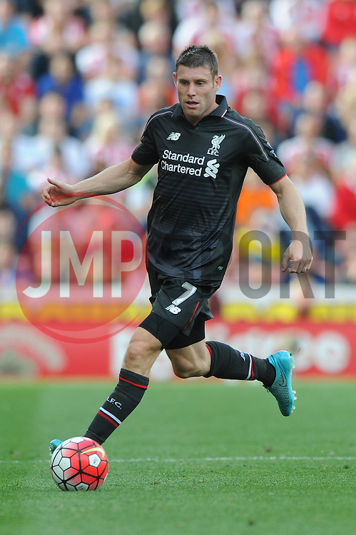 James Milner of Liverpool - Mandatory byline: Dougie Allward/JMP - 07966386802 - 09/08/2015 - FOOTBALL - Britannia Stadium -Stoke-On-Trent,England - Stoke City v Liverpool - Barclays Premier League