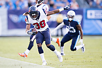 NASHVILLE, TN - DECEMBER 3:  Andre Ellington #38 of the Houston Texans keeps his feet in bounds during a game against the Tennessee Titans at Nissan Stadium on December 3, 2017 in Nashville, Tennessee.  The Titans defeated the Texans 23-14.  (Photo by Wesley Hitt/Getty Images) *** Local Caption *** Andre Ellington