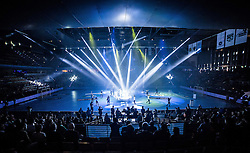 Berlin, Deutschland, 16.05.2015:<br /> Handball EHF Pokal Halbfinale Spiel 1 2014 / 2015 - Skjern Handbold - HSV Hamburg - EHF CUP Finals 2014/15.<br /> <br /> Eroeffnungsfeier *** Local Caption *** &copy; pixathlon