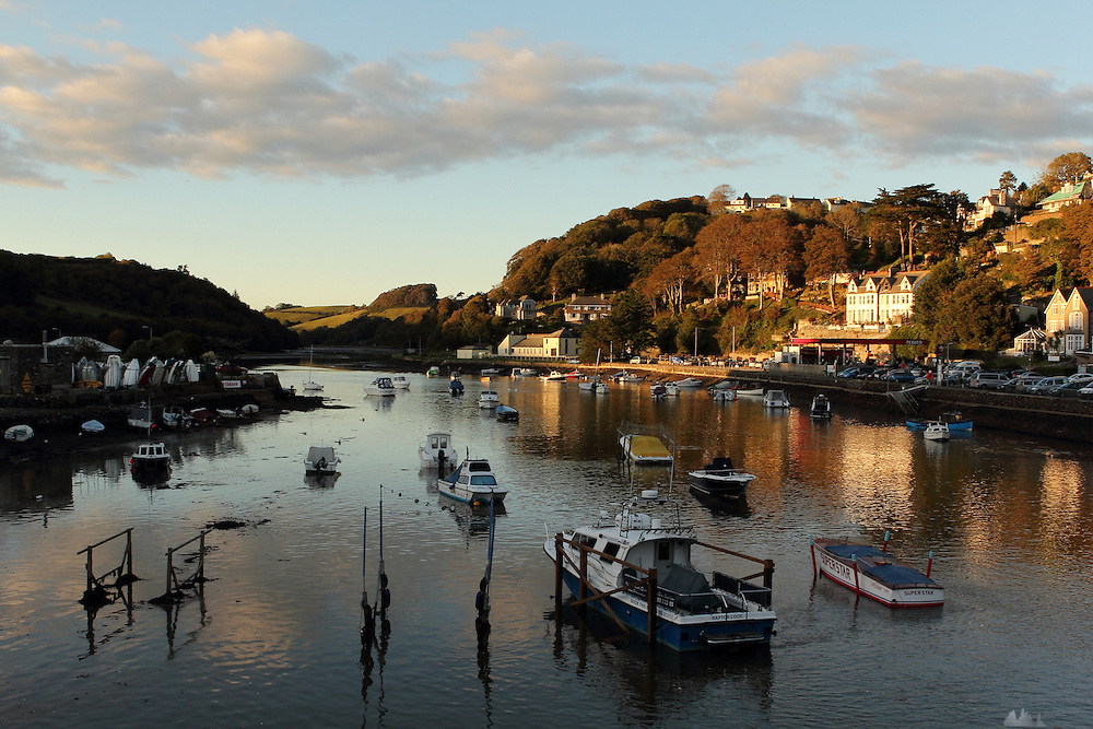 Looe, in southern Cornwall, at sunset