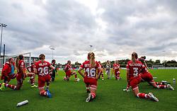 Bristol City Women cool down - Mandatory by-line: Robbie Stephenson/JMP - 25/06/2016 - FOOTBALL - Stoke Gifford Stadium - Bristol, England - Bristol City Women v Oxford United Women - FA Women's Super League 2