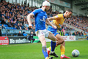 Chesterfield defender Andy Kellett (24) during the EFL Sky Bet League 2 match between Chesterfield and Mansfield Town at the Proact stadium, Chesterfield, England on 14 A pril 2018. Picture by Nigel Cole.