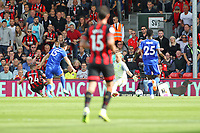 Football - 2018 / 2019 Premier League - AFC Bournemouth vs. Leicester City<br /> <br /> Bournemouth's Ryan Fraser slots the ball past the advancing Kasper Schmeichel of Leicester City to score his and Bournemouth's second at the Vitality Stadium (Dean Court) Bournemouth <br /> <br /> COLORSPORT/SHAUN BOGGUST