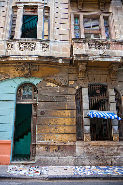 Chopped up buildings in Havana Vieja, Cuba.