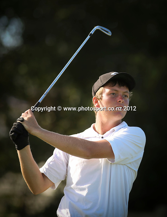Thomas Brocklelsby on the final day of the New Zealand stroke play championship, Paraparaumu Beach Golf Club, New Zealand. Sunday, 24 March, 2013. Photo: John Cowpland / photosport.co.nz