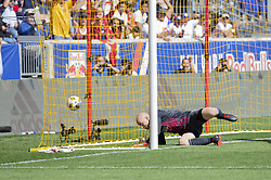 September 30, 2018 - Harrison, New Jersey, United States - Goalkeeper Brad Guzan (1) of Atlanta United FC allowed goal during regular MLS game against Red Bulls at Red Bull Arena Red Bulls won 2 - 0  (Credit Image: © Lev Radin/Pacific Press via ZUMA Wire)