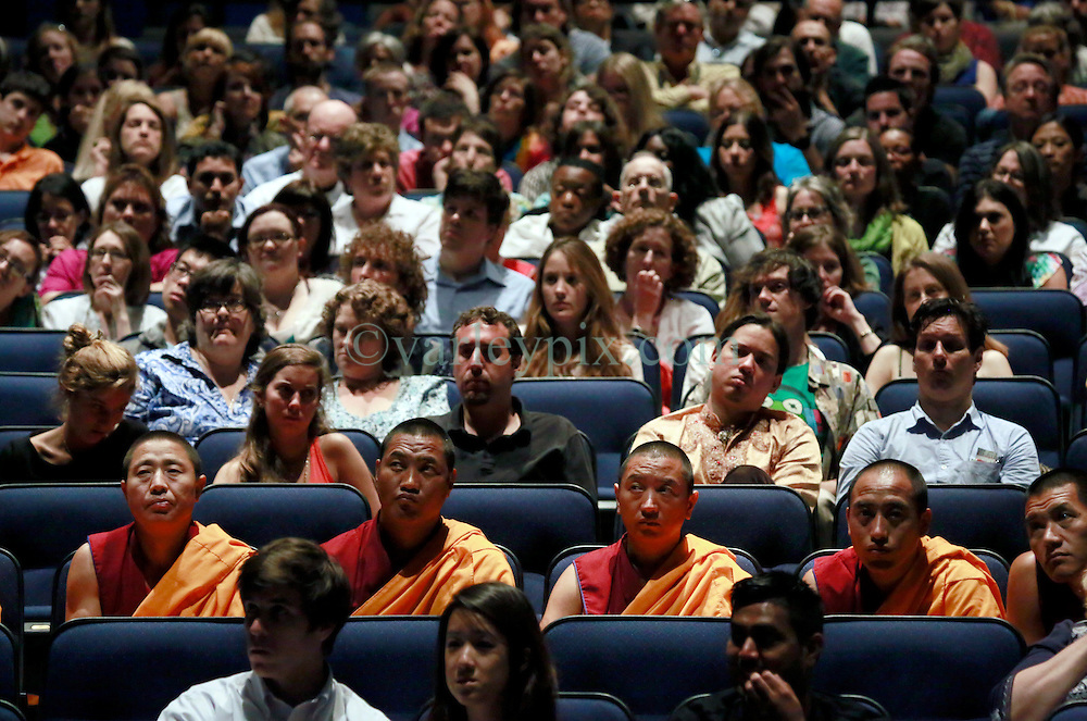 17 May 2013. New Orleans, Louisiana,  USA..A capacity crowd fills the Morial Convention Center as His Holiness the 14th Dalai Lama speaks at the 'Resiliance - Strength through Compassion and Connection' conference. .Photo; Charlie Varley.