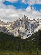 View of Emerald Peak, Yoho National Park, near Golden, British Columbia, Canada.