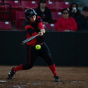 02 March 2018: San Diego State softball hosts Minnesota on day two of the San Diego Classic I at Aztec Softball Stadium. San Diego State third baseman Molly Sturdivant (31) hits a two out single in the bottom of the third inning. The Aztecs beat the #21/20 Gophers 6-2.<br /> More game action at sdsuaztecphotos.com